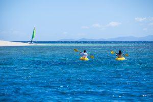 Kayaking off Navini Island